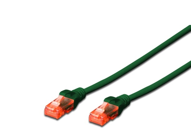 CAT 6 U-UTP patch cable, Cu, LSZH AWG 26/7, length 1 m, green